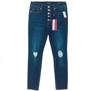 Vigoss ~ Ace Exposed Button High Rise Skinny Jeans
